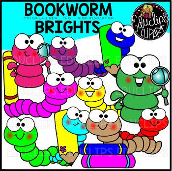 TEACHER APPRECIATION CLIP ART FREEBIE 2018 - Bookworm Brights {Educlips Clipart}