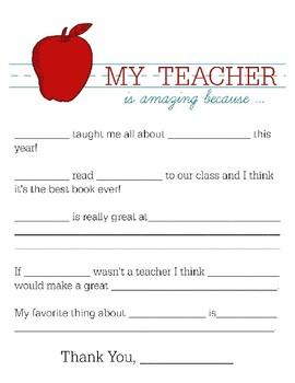 TEACHER APPRECIATION COLORING & THANK YOU NOTES, BUNDLE 14 PAGES