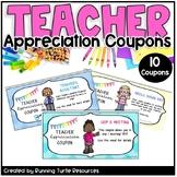TEACHER APPRECIATION COUPONS