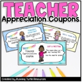 TEACHER APPRECIATION COUPONS | Distance Learning