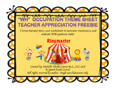 TEACHER APPRECIATION FREEBIE - WH Story/Worksheet