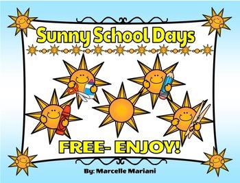 TEACHER APPRECIATION FREEBIE 2 - SUN CLIP ART- COMMERCIAL USE