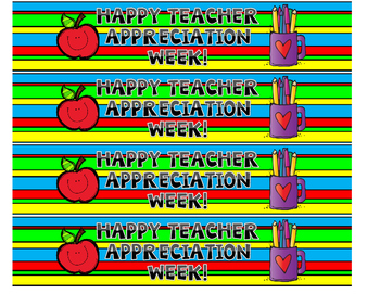TEACHER APPRECIATION WATER LABELS