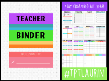 TEACHER BINDER & LESSON PLANNER