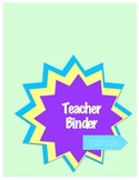 TEACHER BINDER all grades