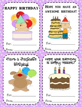 TEACHER BIRTHDAY AWARDS - FOR STUDENTS