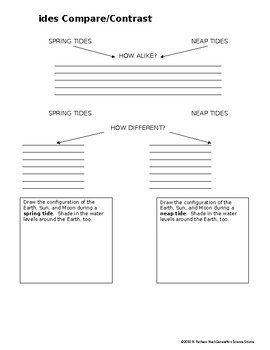 TEACHER FAVORITE!  Tides Graphic Organizer NGSS MS-ESS1-1 MS-ESS1-2