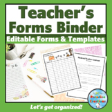 TEACHER FORMS Throughout the YEAR