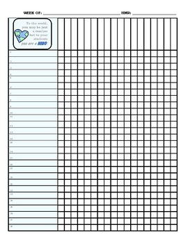 It's just a graphic of Smart Teacher Grade Book Printable