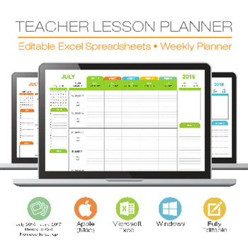 LESSON PLAN TEMPLATE - TEACHER - Digital for Microsoft Excel Windows or Mac