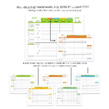 Lesson Plan Template Teacher Digital For Microsoft Excel Windows