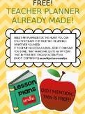 TEACHER PLAN BOOK - FREE AND EDITABLE!!