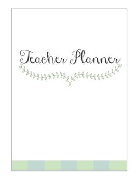 TEACHER PLANNER July 2016 -2017