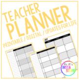 TEACHER PLANNER - 2019/2020 // PRINTABLE + DIGITAL // MONTHLY + WEEKLY INSERTS