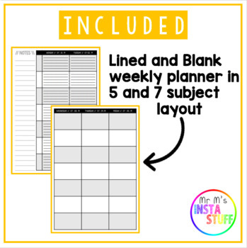 TEACHER PLANNER - 2019/2020 // PRINTABLE + DIGITAL // MONTHLY + WEEKLY INSERTS