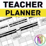 TEACHER PLANNER // 2020 - 2021 // PRINTABLE AND EDITABLE /