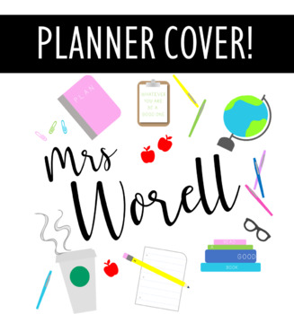 graphic about Planner Cover Printable called Instructor PLANNER Address PRINTABLE
