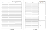 TEACHER PLANNER Ready to print in B/W !!!