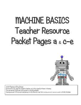 TEACHER RESOURCE for Simple Machine Basics ~ 5th, 6th, 7th, 8th & Homeschool