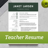 TEACHER RESUME TEMPLATE for MS Word and Apple Pages   Inst