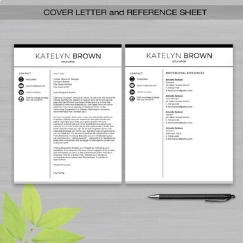 TEACHER RESUME Template For MS Word | + Educator Resume Writing Guide  3 Page Resume