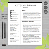 TEACHER RESUME Template For MS Word | + Educator Resume Writing Guide