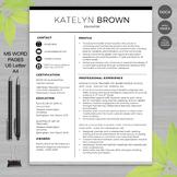 TEACHER RESUME Template For MS Word | + Educator Resume Writing Guide
