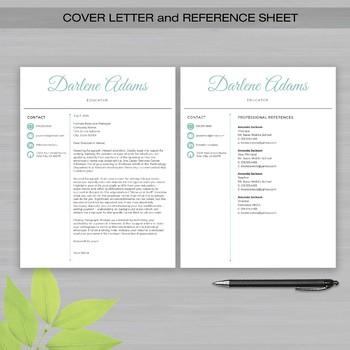 RESUME TEACHER Template For MS Word + Educator Resume Writing Guide - Vscript