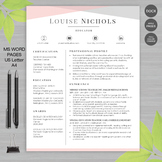 TEACHER RESUME Template For MS Word and Pages   + Educator Resume Writing Guide
