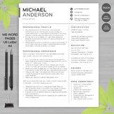 Teacher resume template for ms word educator resume writing guide product thumbnail altavistaventures Images