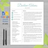 TEACHER RESUME Template Google Docs and Google Slides + Educator Writing Guide