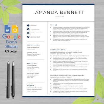 Teacher Resume Template Google Docs And Google Slides Educator Writing Guide