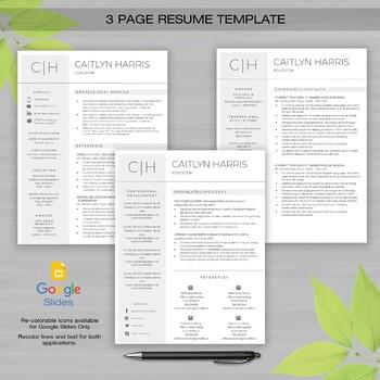 TEACHER RESUME Template Google Slides + Educator Writing Guide