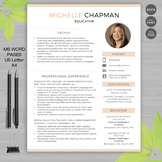 TEACHER RESUME Template with Photo For MS Word | + Educato