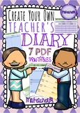 TEACHER'S DIARY PDF PRINTABLES