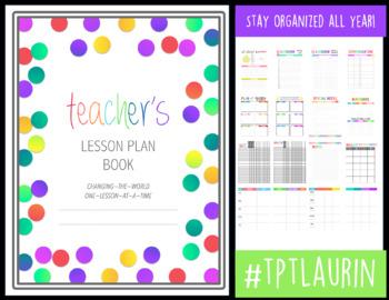 TEACHER'S BINDER & LESSON PLAN BOOK