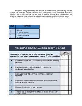 TEACHER'S SELF-EVALUATION QUESTIONNAIRE