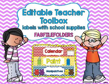 TEACHER TOOL BOX-SCHOOL SUPPLY LABELS