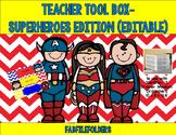 TEACHER TOOL BOX-SUPERHEROES EDITION