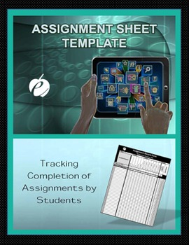 """ASSIGNMENT FORM TEMPLATE (Excel) """"Form for Recording Student Grades"""""""