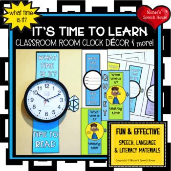 TEACHER VERSION CLOCK CLASSROOM DECOR  READING MATH