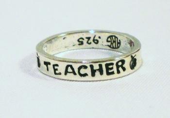 TEACHER band ring