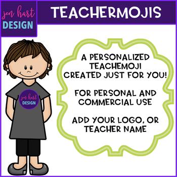 TEACHERMOJI Clip Art - Personalized to look like you {jen