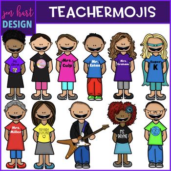 TEACHERMOJI Clip Art - Personalized to look like you {jen hart Clip Art}