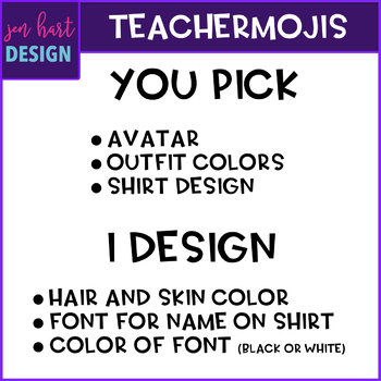 TEACHERMOJI Clip Art - Personalized to look like you {jen hart Clip Art}