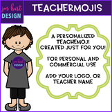 TEACHERMOJI Clipart (Personalized to look like YOU, person