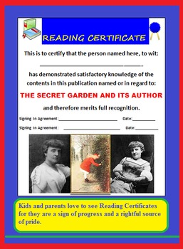 TEACHER'S GUIDE TO THE SECRET GARDEN (INTERACTIVE,GUIDE,TESTS,FUN ACTIVITIES)