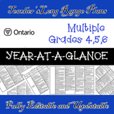 Long Range Plans / Editable /Grades 4/5/6 / Year-At-A-Glan