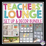 TEACHERS' LOUNGE / STAFFROOM SET UP AND DECOR BUNDLE