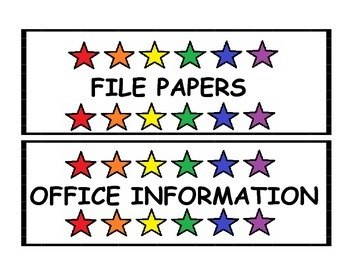 TEACHER'S ORGANIZATION LABELS PACK